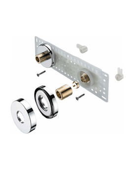 Image of Bristan Wall Mount 11 Fixing Kit Chrome - WMNT11 C