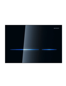 Geberit Sigma80 Black Glass Touchless Flush Plate For 12cm UP320 Cistern