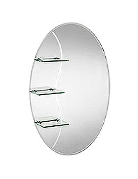 Croydex Coniston Oval Mirror With Shelves 500 X 750mm - MM700200