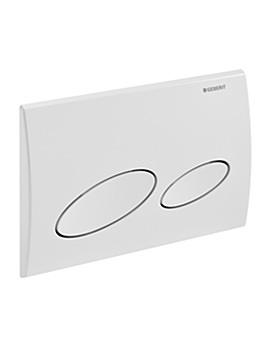 Geberit Kappa20 Dual Flush Plate White - 115.228.11.1