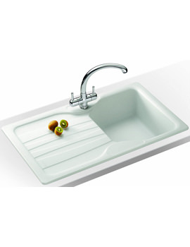 Related Franke Calypso Propack COG 611 Fragranite White Kitchen Sink And Tap