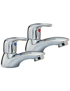 Latina Pair Of Bath Tap Chrome - 25020