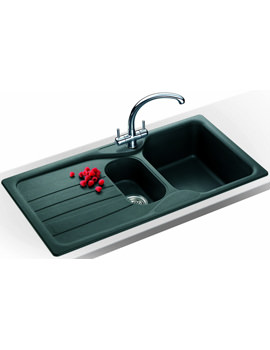 Related Franke Calypso Propack COG 651 Fragranite Graphite Kitchen Sink And Tap