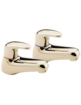 Modena Pair Of Bath Tap Gold - 95220