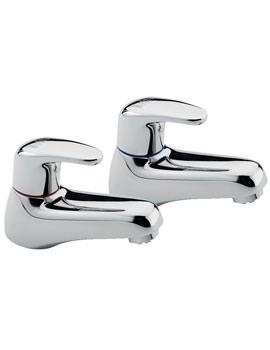 Modena Pair Of Bath Tap Chrome - 95020
