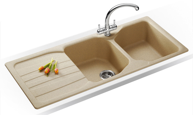 Franke Calypso Sink : ... Franke Calypso Propack COG 621 Fragranite Oatmeal Kitchen Sink And Tap