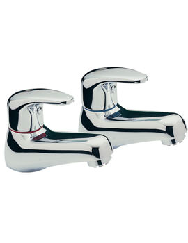 Modena Pair Of Basin Tap Chrome - 95010