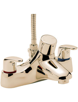 Related Tre Mercati Modena Thermostatic Bath Shower Mixer Tap With Kit Gold