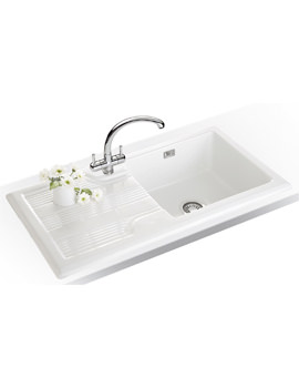 Franke Galassia Propack GAK 611 White Ceramic Kitchen Sink And Tap