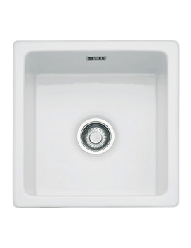 Franke Galassia GAK 110 39 White Ceramic 1.0 Bowl Undermount Sink