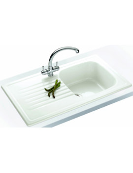 Franke Elba Propack ELK 611 White Ceramic Kitchen Sink And Tap