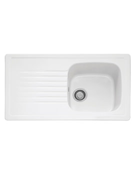 Franke Elba ELK 611 White Ceramic 1.0 Bowl Kitchen Inset Sink
