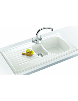 Franke Elba Propack ELK 651 White Ceramic Kitchen Sink And Tap