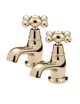 Victoria Pair Of Bath Tap Gold - VICT22