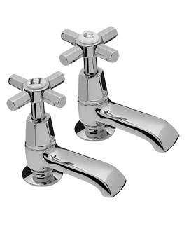 Charleston Pair Of Bath Tap Chrome - 1402