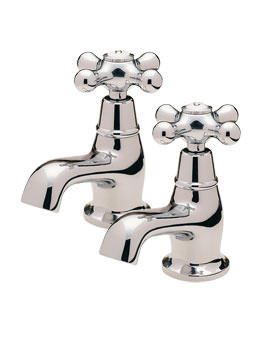 Victoria Pair Of Bath Tap Chrome - VICT2