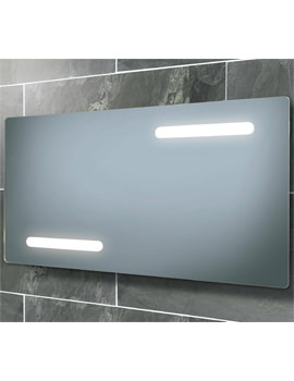 Image of HIB Aspina Back-Lit Steam Free Mirror With Shaver Socket 850 x 450mm