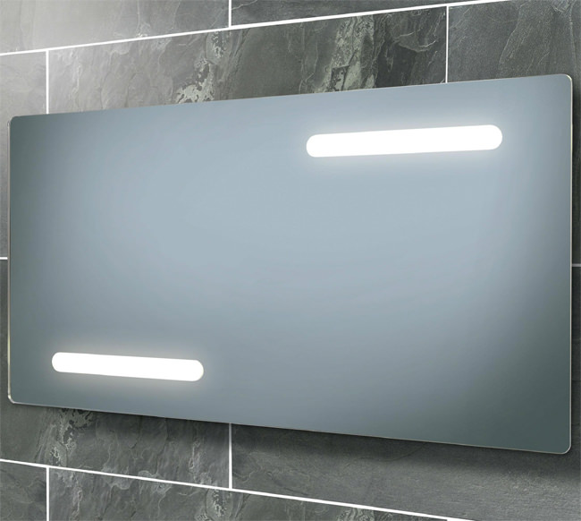 Large Image of HIB Aspina Back-Lit Steam Free Mirror With Shaver Socket 850 x 450mm