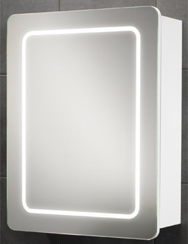 Orlando Single Door LED Back-Lit Illuminated Cabinet 500 x 650mm