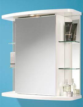 HIB Vera Single Door Illuminated Bathroom Mirrored Cabinet 605 x 625mm
