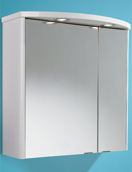 Related HIB Ambiente Double Door Illuminated Bathroom Mirrored Cabinet 600 x 615mm