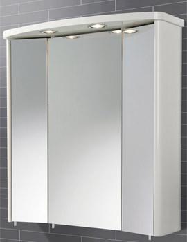HIB Tissano Triple Door Illuminated Bathroom Mirrored Cabinet 650 x 700mm