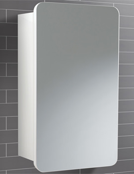 Montana Single Door Bathroom Mirrored Cabinet 350 x 570mm