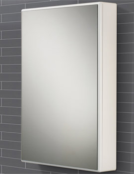 HIB Tulsa Slimline Single Door Mirrored Cabinet 500 x 700mm - 9101600 - Image