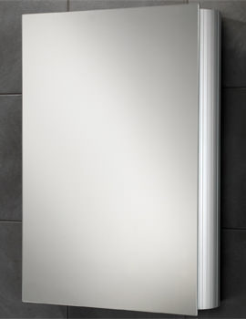 Nitro Single Door Aluminium Mirrored Cabinet 500 x 700mm