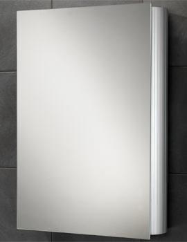 HIB Nitro Single Door Aluminium Mirrored Cabinet 500 x 700mm