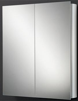 HIB Quantum Double Door Aluminium Mirrored Cabinet 600 x 700mm