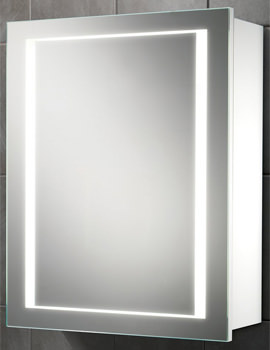 Austin Single Door LED Back-Lit Illuminated Cabinet 500 x 630mm