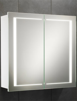 Colorado Double Door LED Back-Lit Illuminated Cabinet 660 x 630mm