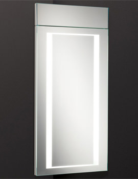 HIB Minnesota LED Back-Lit Illuminated Corner Cabinet 300 x 630mm