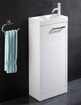 Solo Floor Standing Vanity Unit 400 x 845mm White - 9602200
