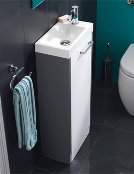 HIB Solo Floor Standing Vanity Unit 400 x 845mm Anthracite-White