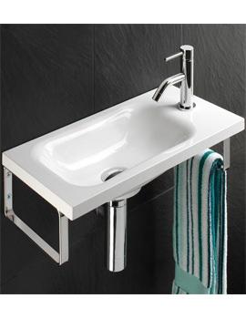 Solo Swirl Wall Hung Washbasin 500 x 250mm - 8870