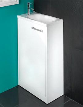 Solo Floor Standing Vanity Unit 500 x 845mm White - 9602400