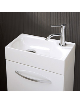 Related HIB Cassino Flow Cloakroom Basin 400 x 200mm - 8800