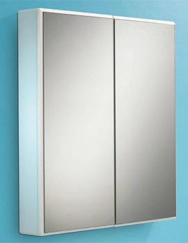 HIB Jersey Slimline Double Door Mirrored Cabinet 650 x 700mm
