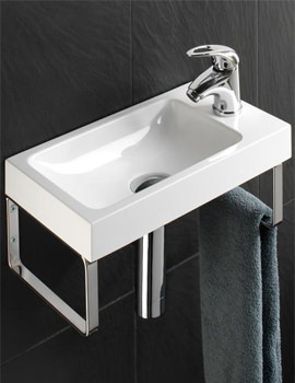 Solo Delta Wall Hung Washbasin 400 x 220mm - 8860