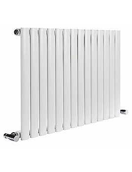DQ Heating Cove 1003 x 550mm Single Sided Horizontal Radiator White