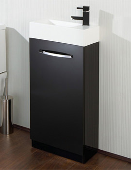 HIB Cassino Floor Standing Vanity Unit 400mm Black - 9501200