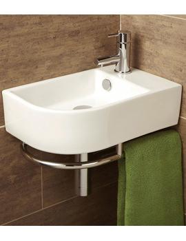Related HIB Malo Temoli Cloakroom Basin With Towel Rail - 8976