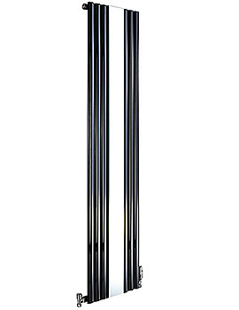 Cove Mirror Vertical Designer Radiator 500 x 1800mm Black