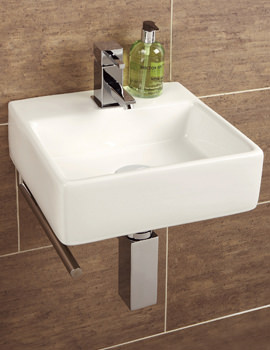 Related HIB Malo Sabai Cloakroom Basin With Towel Rail - 8910