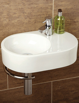 Malo Saville Cloakroom Basin With Towel Rail - 8943