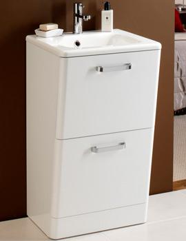 HIB Palamas Floor Standing Vanity Unit And Basin 500mm White