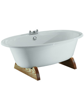 Adamsez Andante Double Ended 1850 x 950mm Freestanding Bath With Feet