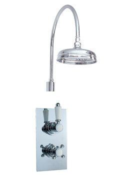 Twin Concealed Thermostatic Shower Valve-Fixed Head And Shower Arm